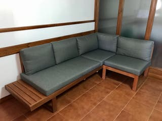 Sofa rinconera jardín