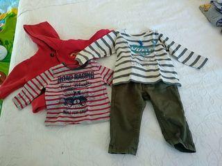 Lote dos conjuntos bebé 6-12 meses