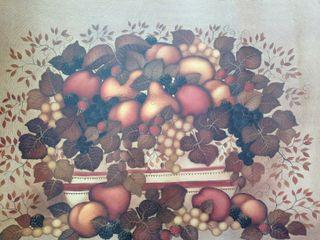 imagen cuadro marco lámina bocetos fruta otoño