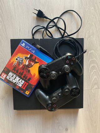 PS4 (500GB) + 2 Mandos + Red Dead Redemption 2