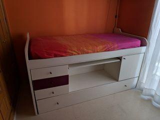 Dormitorio juvenil completo (colchones de regalo)