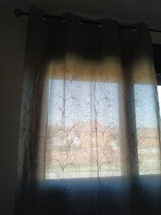 cortina doble con visillo