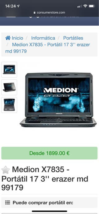 Ordenador Portátil Medion X7835 MD99179