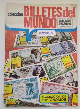 ALBUM CROMOS BILLETES DEL MUNDO-EDICIONES ESTE-