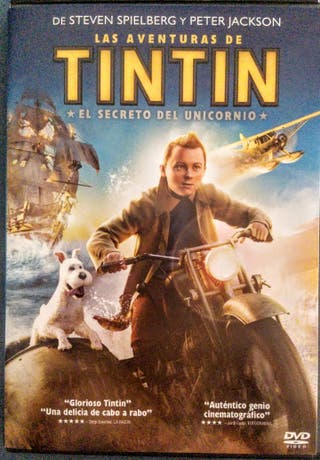 TINTIN EL SECRETO DEL UNICORNIO DVD + FIGURA