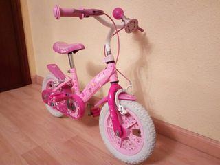 Bicicleta Barbie rosa/blanca