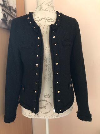 Veste pailleté noir