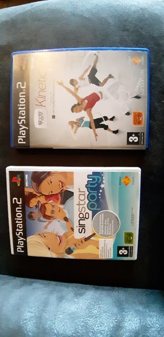 Singstar y kinetic para ps2