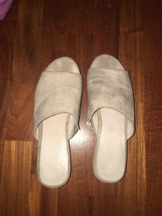 Sandalias plataforma piel first outlet
