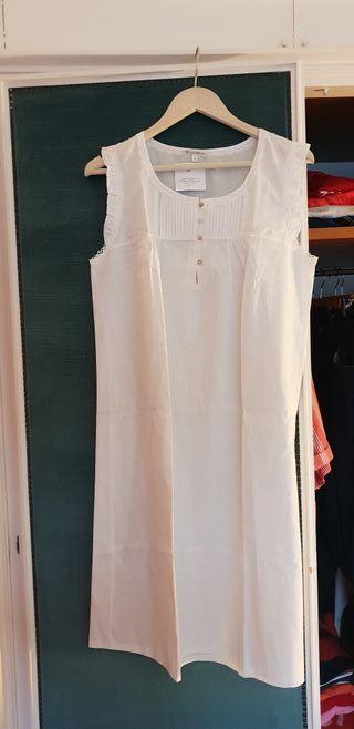 Camisón blanco algodón