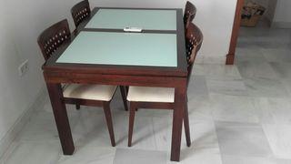 conjunto de mesa comedor con 6 sillas