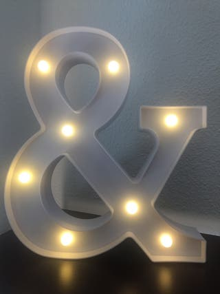 Letra luminosa 30cm alto