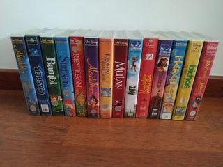 Set de películas VHS Disney + infantiles