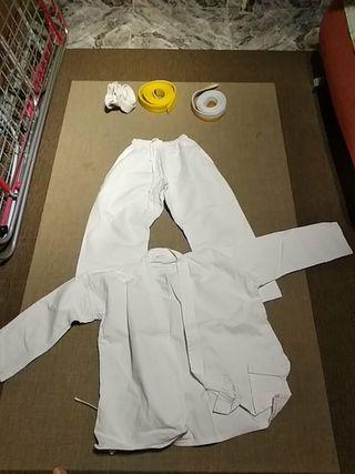 traje karate judo blanco