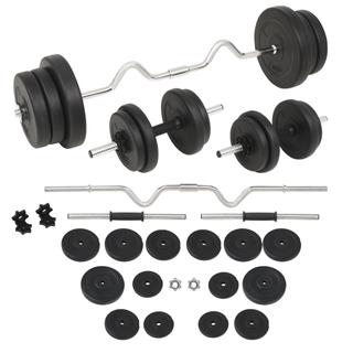 vidaXL Juego de pesas 60 kg 91403