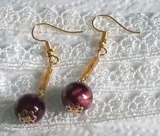 Vintage inspired pierced earrings