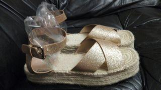 Sandalias NUEVAS Cuñas ROPA zapatos vestidos