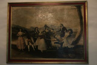 "Réplica cuadro ""La gallina ciega"" de Goya"