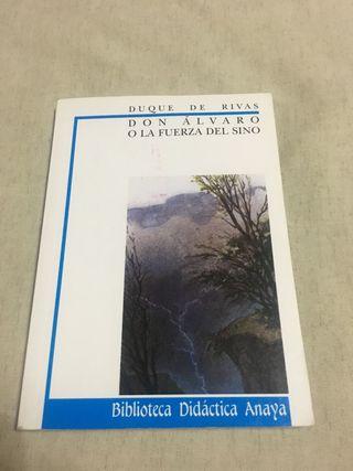 """Libro """"Don Alvaro o la fuerza del sino"""""""