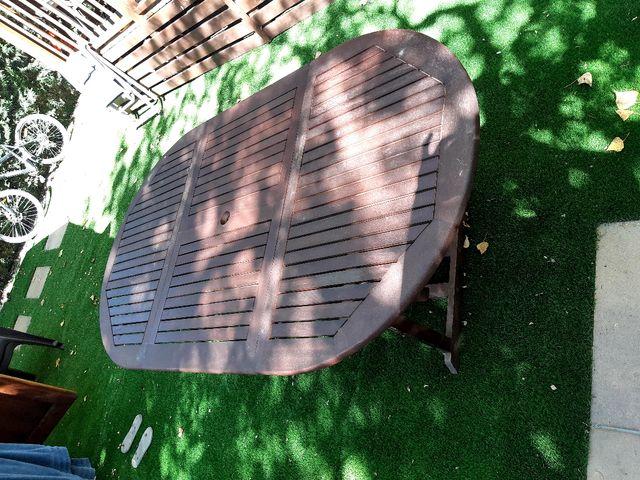 Mesa jardín extensible
