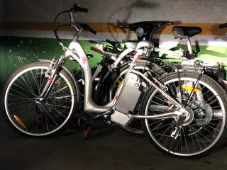 Bici eléctrica con tándem para niño 4 a 7 años