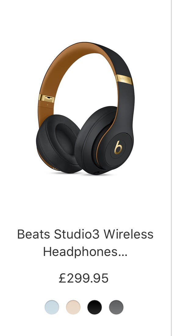 "Beats Studio 3 wireless ""skyline collection"""