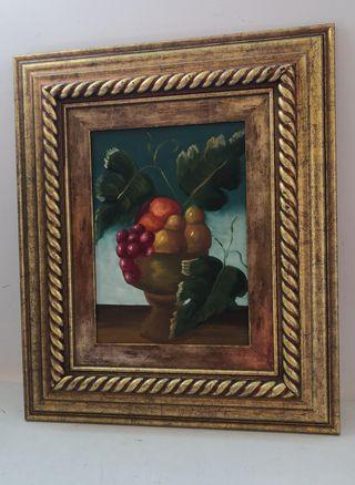 Cuadro Motivo Frutas Dorado