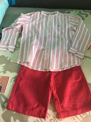 Conjunto pantalón y camisa