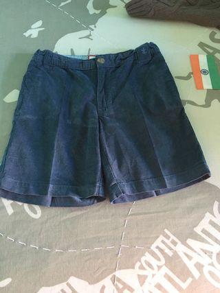 Pantalón corto pana