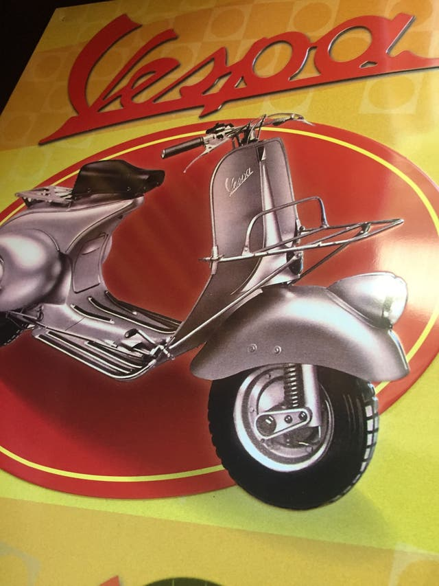Cartel VESPA decoración vintage
