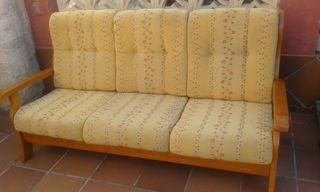Sofá 3 plazas en madera provenzal