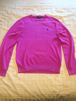 Pink V-Neck Jumper Ralph Lauren