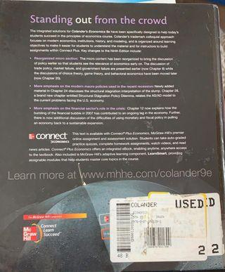 Colander's Economics 9th Edition.