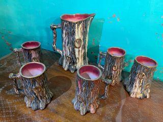 """Juego de jarras """"troncos"""""""