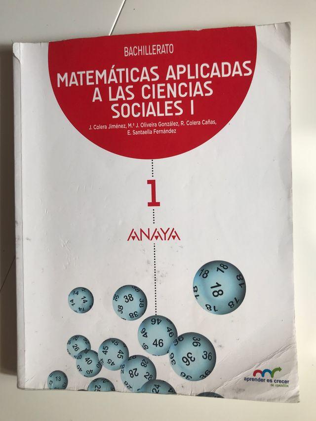 Libro de matemáticas primero de bachillerato