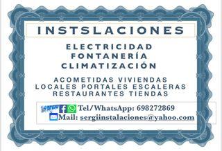 INSTALACIONES ELECTRICIDAD-AGUA-CLIMATICACION