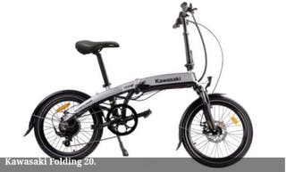 bicicleta electrica kawasaki e-folding 20