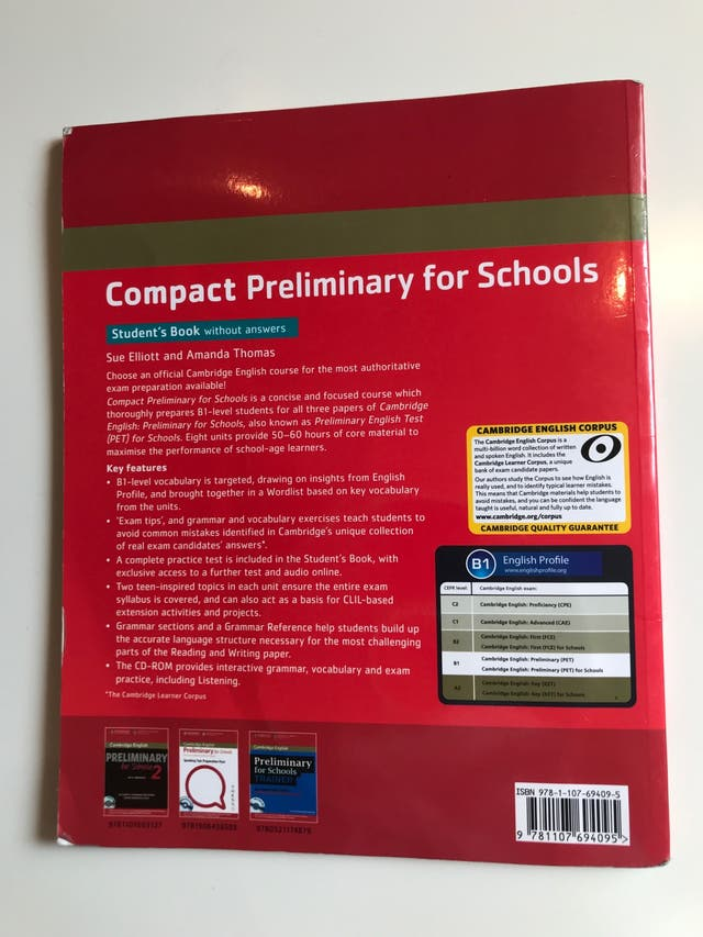 Libro de inglés nivel B1 Cambridge exam (con CD)