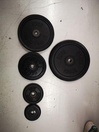 Discos para máquinas de fitness