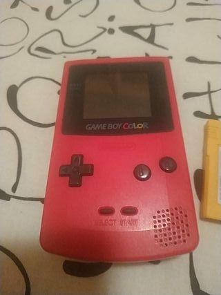 Gameboy color roja + Donkey Kong Land
