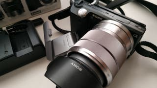 cámara de fotos y vídeo Sony nex 5 (Evil)+objetivo
