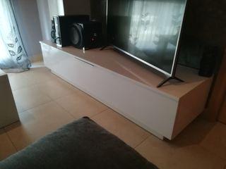 mueble tv + vitrina pared