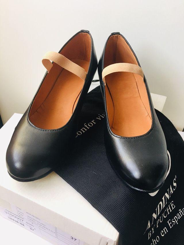 Zapatos flamenco profesional piel