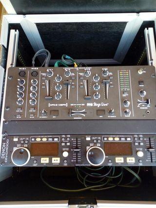 Mesa y doble cd para DJ