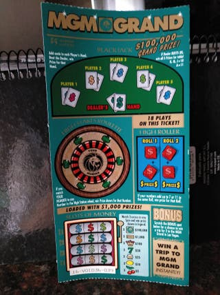 billete lotería MGM GRAND