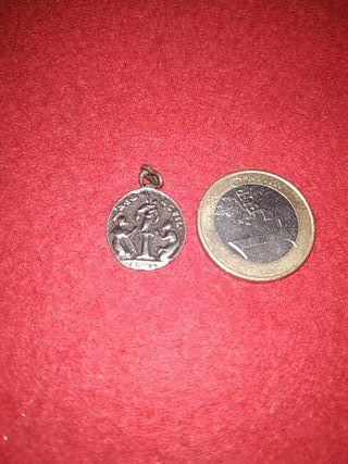 medalla plata siglo xviii virgen del pilar y carme