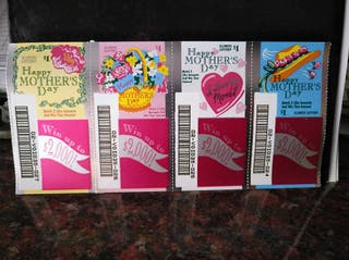billetes lotería HAPPY MOTHER'S DAY