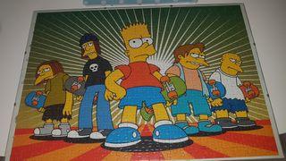 cuadro puzzle Los Simpson