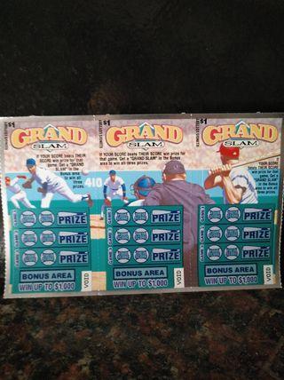 billetes lotería GRAND SLAM
