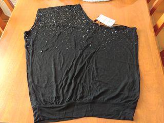 Blusa negra de fiesta de Bershka